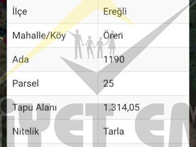 ÖREN MAHALLESİNDE M2 Sİ 189 TL DEN SATILIK TARLA